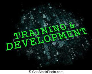 訓練, 以及, development., 教育, concept.