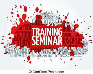 訓練, 単語, セミナー, 雲