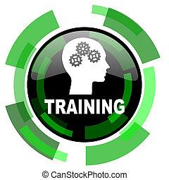 訓練, 圖象, 綠色, 現代, 設計, 被隔离, 按鈕, 网, 以及, 流動, app, 設計, 插圖