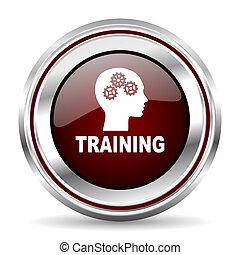 訓練, 圖象, 鉻, 邊框, 輪, 网, 按鈕, 銀, 金屬, pushbutton