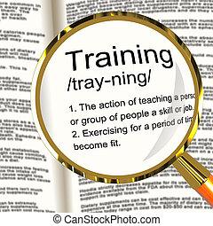 訓練, 定義, 放大器, 顯示, 教育, 指示, 或者, 輔導