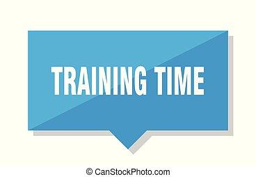 訓練, 時間, 標价牌