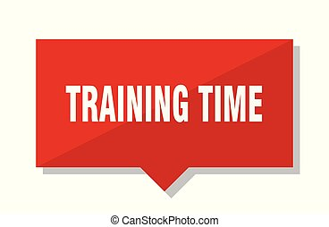 訓練, 時間, 紅色的標簽