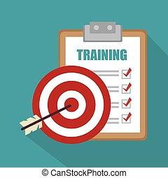 訓練, 概念, デザイン, ビジネス
