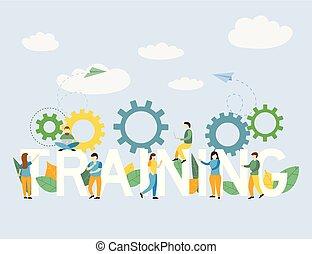 訓練, 概念, 企業のビジネス, スタッフ