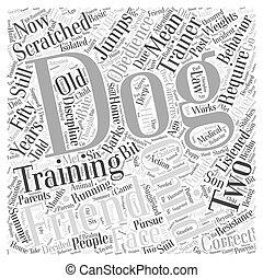 訓練, 概念, 単語, 犬, 服従, 雲