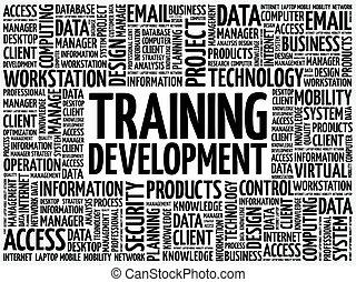 訓練, 發展, 詞, 雲