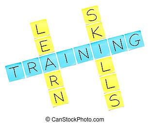 訓練, 縱橫填字遊戲