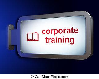 訓練, 背景, 本, 勉強, 広告板, 企業である, concept: