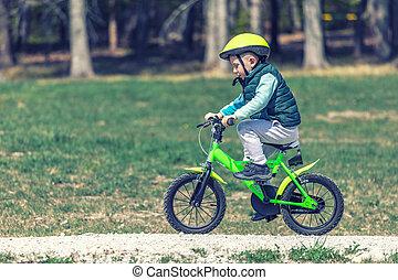訓練, 自転車, 子供