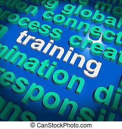 訓練, 詞, 雲, 意味著, 教育, 發展, 以及, 學習