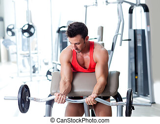 訓練, 重量, 体操 装置, スポーツ, 人