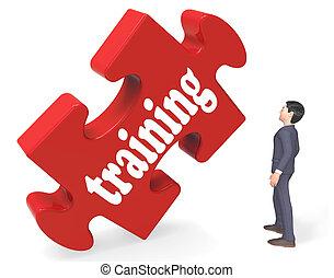 訓練, 顯示, 教育, 學習, 以及, 發展, 3d, rendering