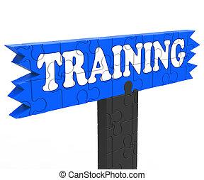 訓練, 顯示, 教育, 指示, 或者, 輔導