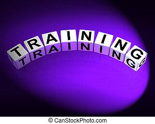 訓練, 骰子, 手段, 教育, 輔導, 以及, 教學