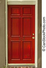 記入項目, ドア, 赤