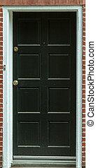 記入項目, ドア, 黒