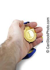 記念する, メダル, 場所, 最初に