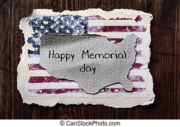 記念, テキスト, 旗, アメリカ人, 日, 幸せ