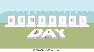 記念, usa., 国民, cemetery., day., 兵士, アメリカ人, 軍, 休日, headstone
