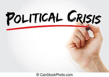 記號, 手, 政治, 危機, 寫