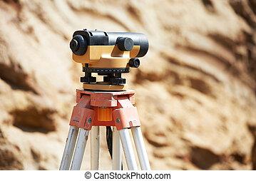 設備, 測量員, 光學, 在戶外, 水平