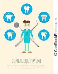 設備, 牙齒, 男性, 旗幟, 牙醫
