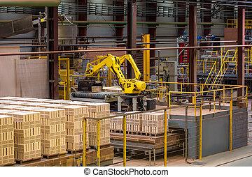 設備, 貨物, brickworks., 製造