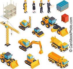 設備, 集合, 等量, 建築物