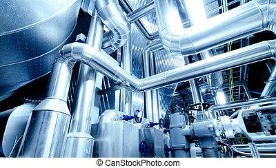 設備, 電纜, 以及, 吹奏, 如, 發現, 在內, a, 現代, 工業, 能源廠