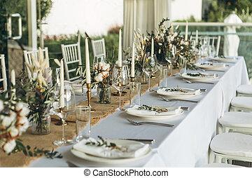 設定, 装飾, テーブル