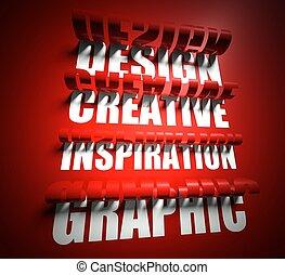 設計, 創造性, 靈感, graphic., 刪去, 在, 背景