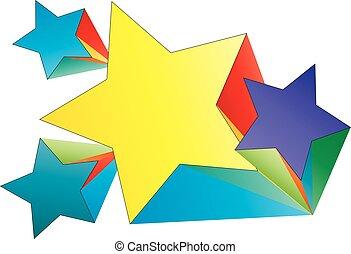 設計, 創造性, 顏色, 星