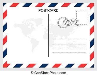 設計, 旅行, 明信片, 卡片, 被隔离, 背景。, 空白, 現代, 圖表