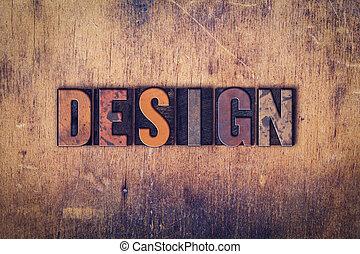 設計, 概念, 木制, letterpress, 類型