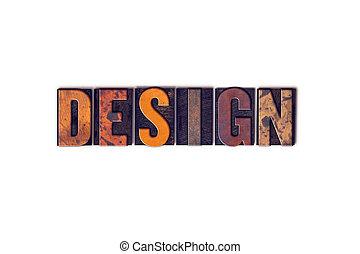 設計, 概念, 被隔离, letterpress, 類型
