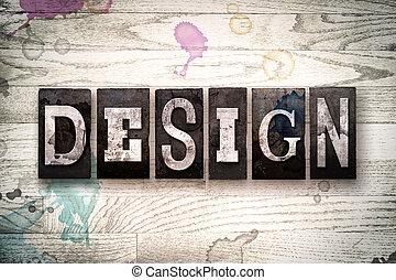 設計, 概念, 金屬, letterpress, 類型