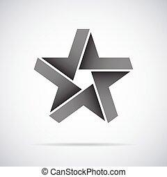 設計, 矢量, logo., 星, 樣板