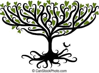 設計, 藝術, 樹, 你