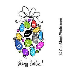 設計, 蛋, 你, 復活節