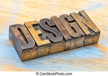 設計, 詞, 摘要, 在, 木頭, 類型