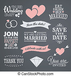 設計, 黑板, 婚禮