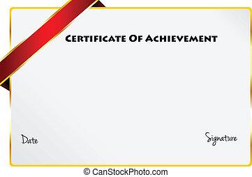 証明書, 達成, 卒業証書