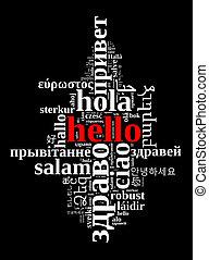 詞, 你好, 在, 不同, 語言