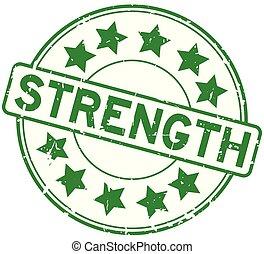 詞, 圖象, 背景, 郵票, 力量, 星, 綠色, 輪, 白色, 橡膠封印, grunge
