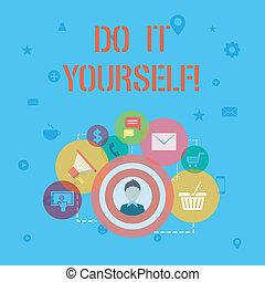 詞, 寫, 正文, 做, 它, yourself., 生意概念, 為, 做, 某事, 所作, 你, 自己, 方式, 家庭改進, renovations.