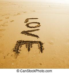 詞, 沙子, 愛, 寫