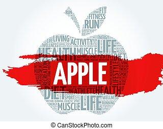 詞, 蘋果, 雲