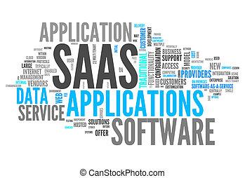 詞, 雲, 軟件, 如, a, 服務