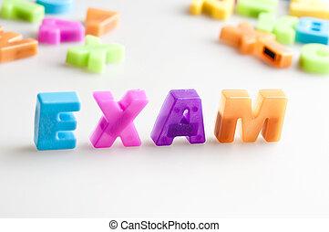試験, 単語